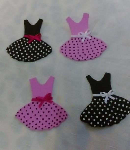 Lembrancinhas de 18 Anos em EVA mini vestido