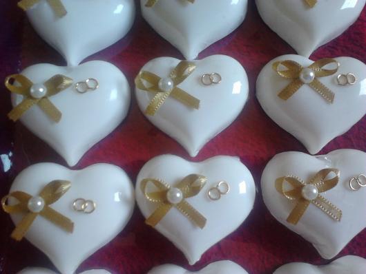 sabonete para bodas de ouro