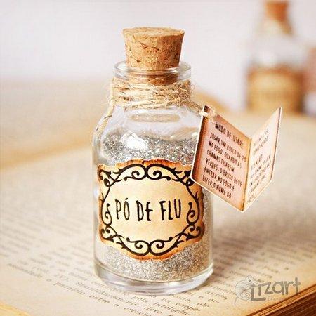 lembrancinha harry potter pó de flu