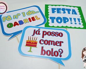 Plaquinhas para Festa infantil com frase fã número 1