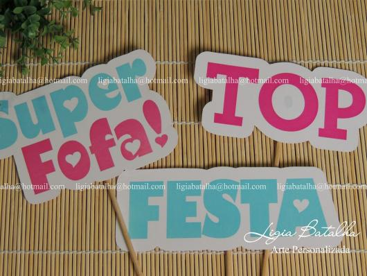 Plaquinhas para Festa do pijama com frase festa top