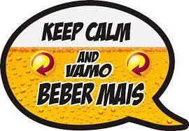 Plaquinhas para Festa de boteco com frase keep calm and vamo beber mais