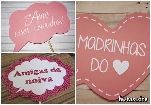 Plaquinhas para Festa de casamento com frase amiga da noiva