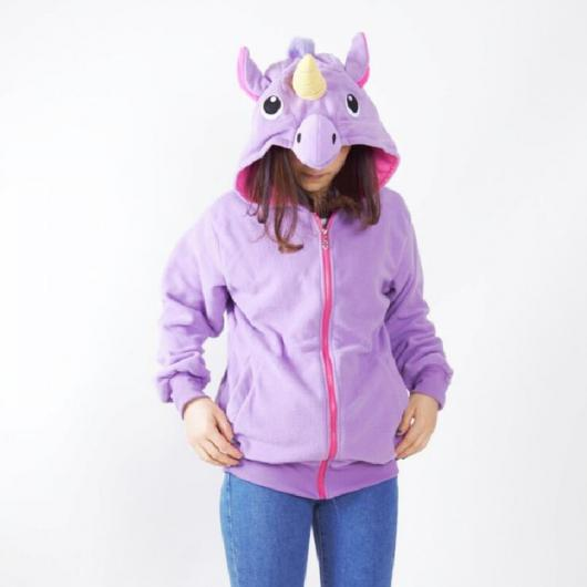 Presentes de Unicórnio casaco de moletom lilás