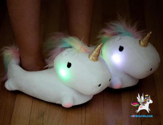 Presentes de Unicórnio pantufa com luzes