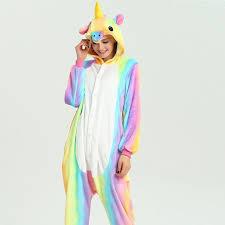 Presentes de Unicórnio pijama colorido