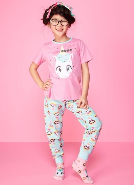 Presentes de Unicórnio pijama infantil