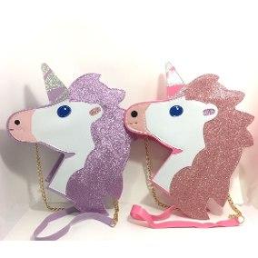 Presentes de Unicórnio bolsa com brilho rosa