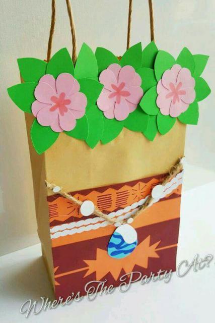Sacolinha Surpresa da Moana de papel craft