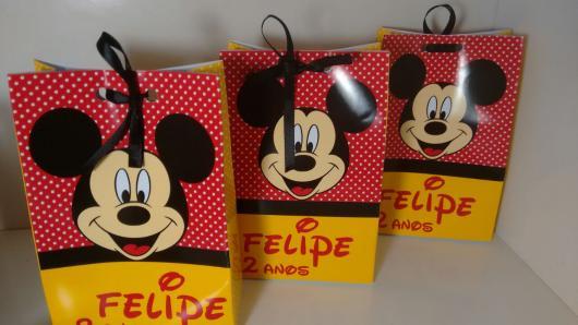 Sacolinha Surpresa Mickey personalizada