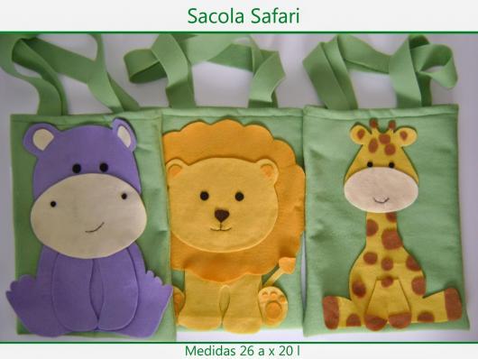 Sacolinha Surpresa Safari de tecido