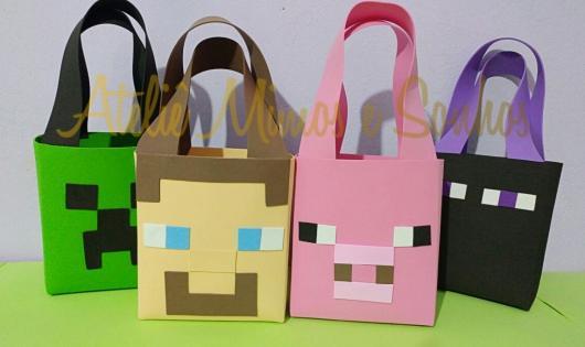 Sacolinha Surpresa Minecraft de EVA