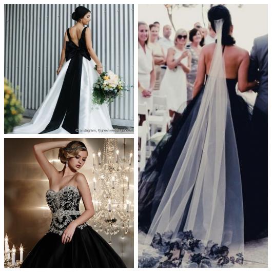 4713df647 Confira todas as fotos de vestido de noiva preto e branco que trouxemos: