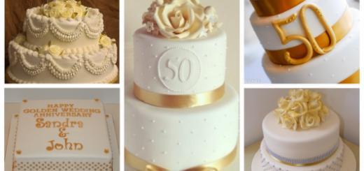 Tipos de bolo de bodas de ouro