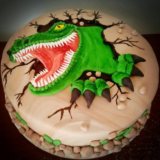 Bolo de tiranossauro Rex