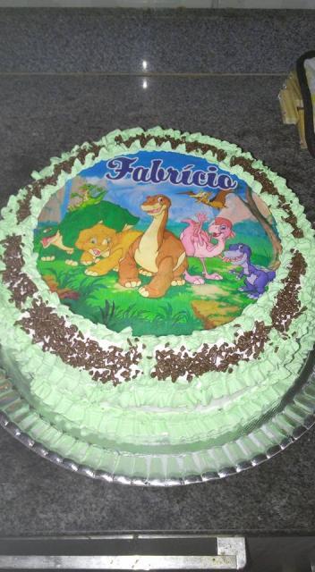 Dica de bolo de dinossauro para aniversários