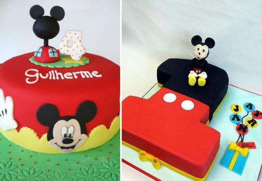 Bolo personalizado Mickey com formato da idade do aniversariante