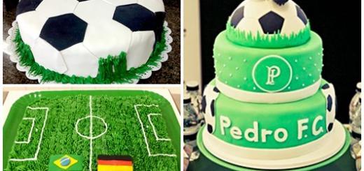 Bolo personalizado futebol inspirações