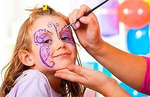 Brincadeiras para festa infantil pintura facial