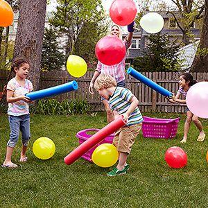 Brincadeiras para festa infantil taco com bexigas
