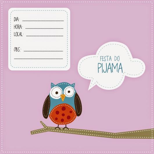 convite festa do pijama para imprimir