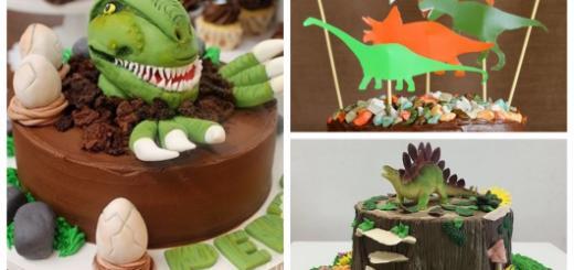 Conheça modelos lindos de bolo de dinossauro
