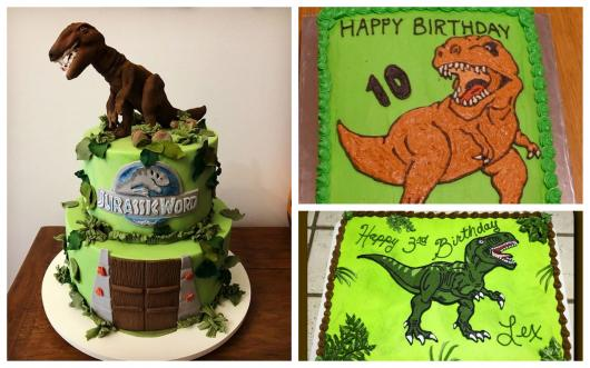Tiranossauro ideia de bolo