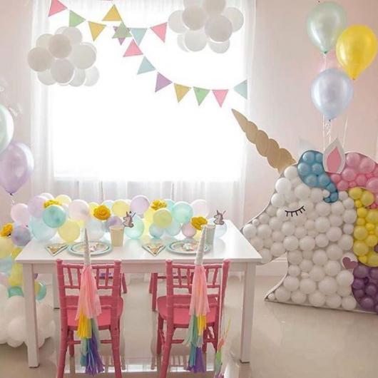 Enfeites de Unicórnio para festa: display de balões em formato de Unicórnio