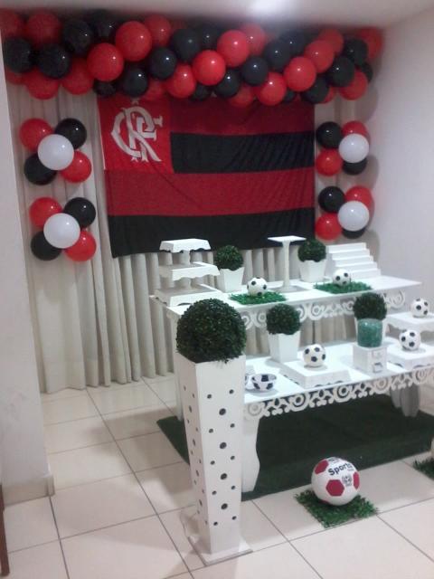 Festa do Flamengo simples com móveis provençais