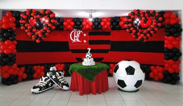 Festa do Flamengo para homem com painel personalizado