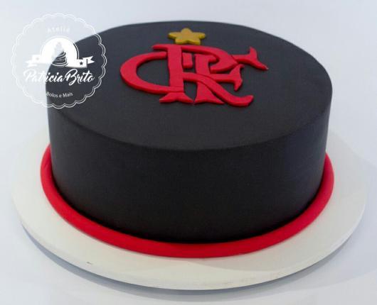 Festa do Flamengo bolo redondo preto