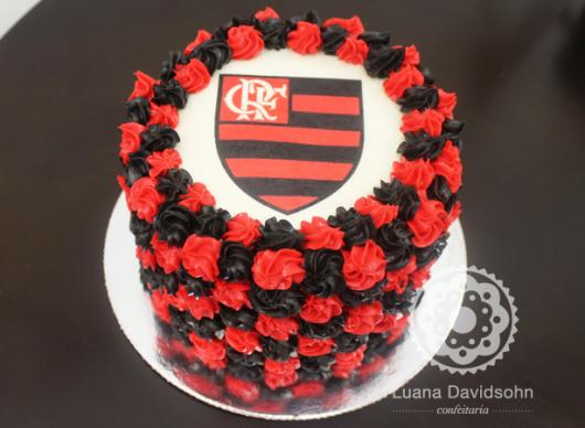 Festa do Flamengo bolo com papel de arroz