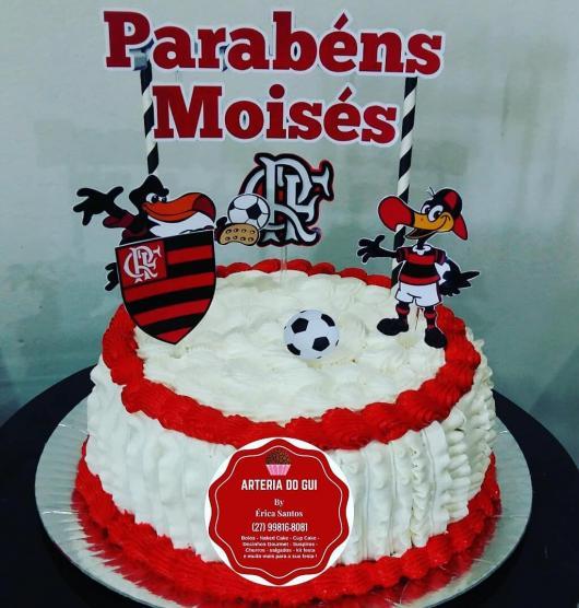 Festa do Flamengo bolo com toppers