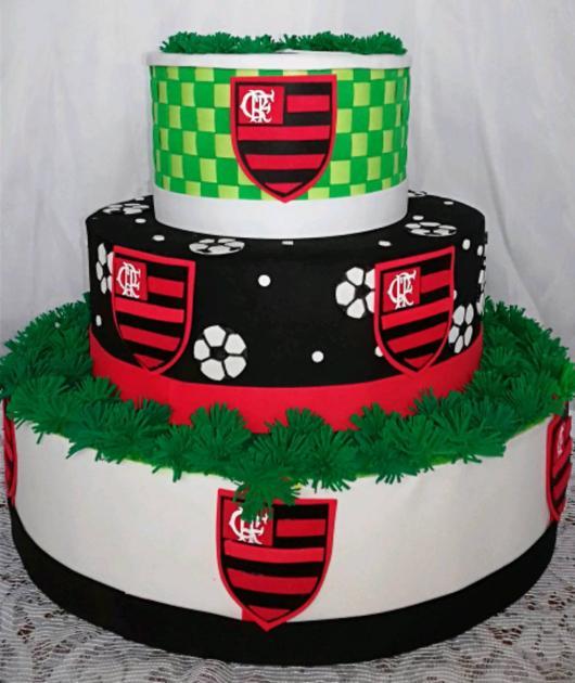 Festa do Flamengo bolo com 3 andares