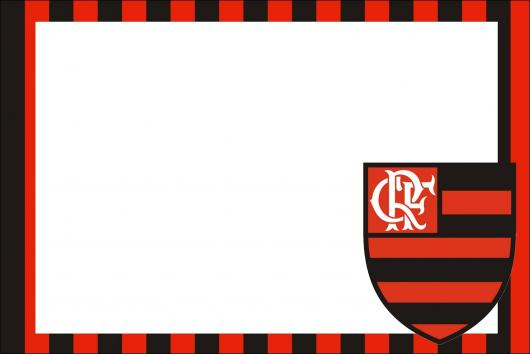 Festa do Flamengo convite cartão simples