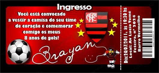 Festa do Flamengo convite ingresso