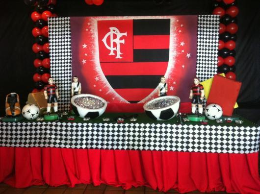 Festa do Flamengo infantil com painel personalizado