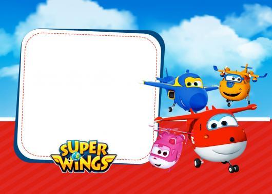 Festa Super Wings convite personalizado
