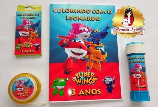 Festa Super Wings lembrancinha bolha de sabão