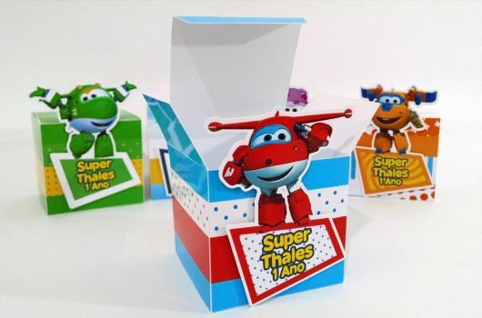 Festa Super Wings lembrancinha caixinha personalizada
