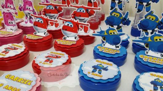 Festa Super Wings lembrancinhas latinha personalizada