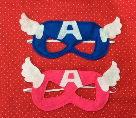 Lembrancinha do Capitão América de feltro máscara