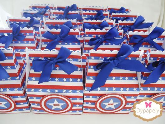 Lembrancinha do Capitão América caixa milk