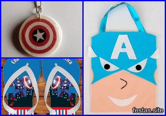 Lembrancinha do Capitão América inspirações