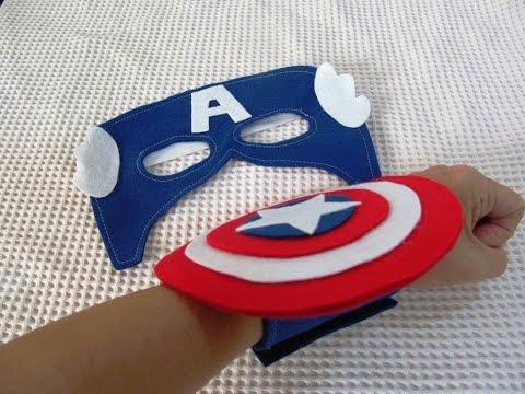 Lembrancinha do Capitão América de EVA bracelete e máscara