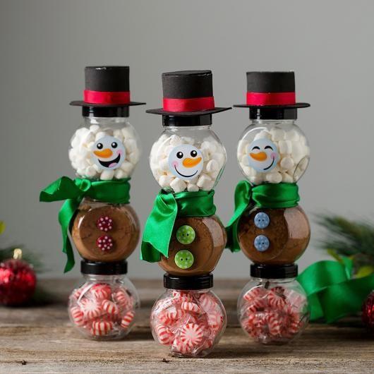 Lembrancinhas baratas para Natal potinhos com balas