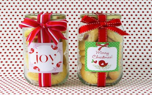 Lembrancinhas baratas para Natal pote com doce caseiro