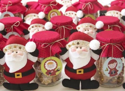 Lembrancinhas baratas para Natal Papai Noel de feltro