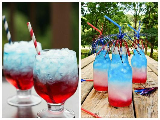Receitas de Drinks azul para festa