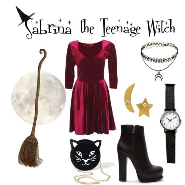 Como fazer fantasia de Sabrina a aprendiz de feiticeira para Halloween